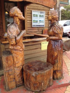 Wooden sculptures - Geeveston, Tassie