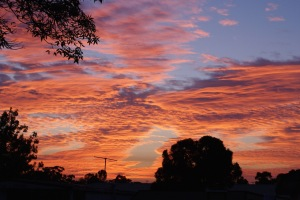 Sunset over Dingley Village, Melbourne