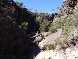 Silent Street heading up through the Grand Canyon to the Pinnacles, Grampians National Park Vic