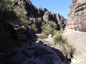 Heading up through the Grand Canyon to the Pinnacles, Grampians National Park Vic
