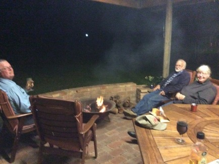 Sitting around the fire pit at Porongurup