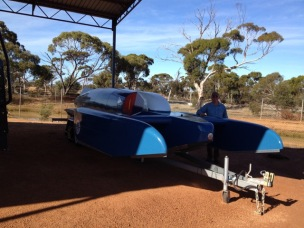 Replica of Donald Campbells Bluebird