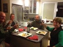 Dinner at Fredy & Ulli's before they leave on holidays