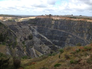 Lithium ore mine at Greenbushes
